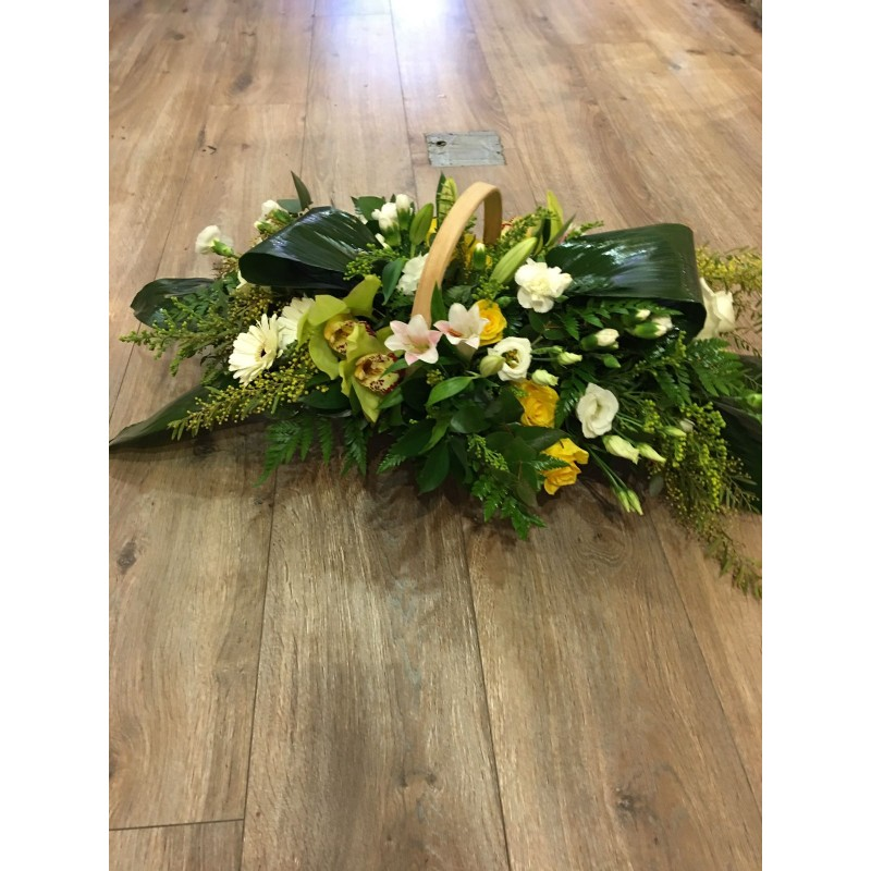 Funeral Basket of Flowers